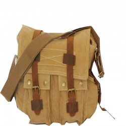 Sac messager beige
