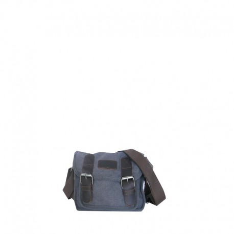Sac messager taille ultra compacte toile et cuir